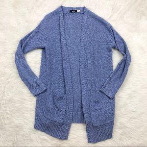 BDG Purple Knit Open Cardigan